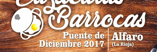 cartel cazuelitas barrocas alfaro